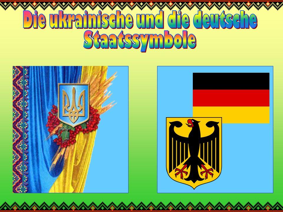 Die Nationalflagge der Ukraine Die Nationalflagge der Ukraine ist Blau-Gelb.