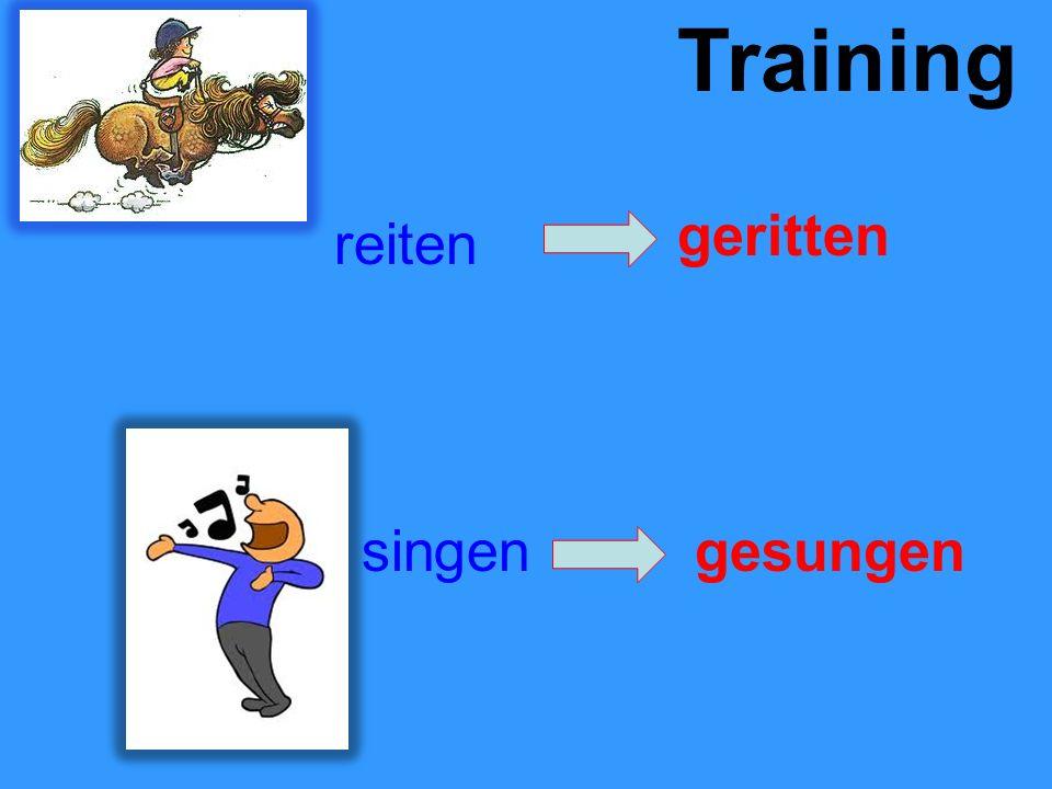 Training reiten geritten singengesungen