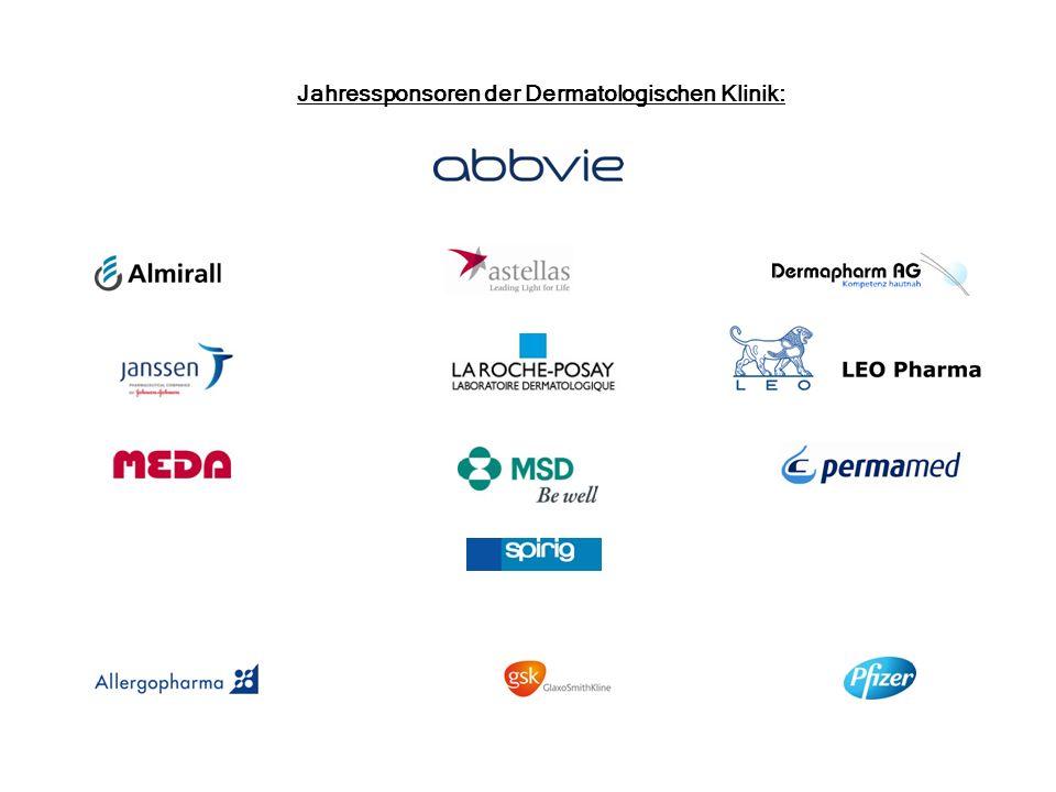 Jahressponsoren der Dermatologischen Klinik: