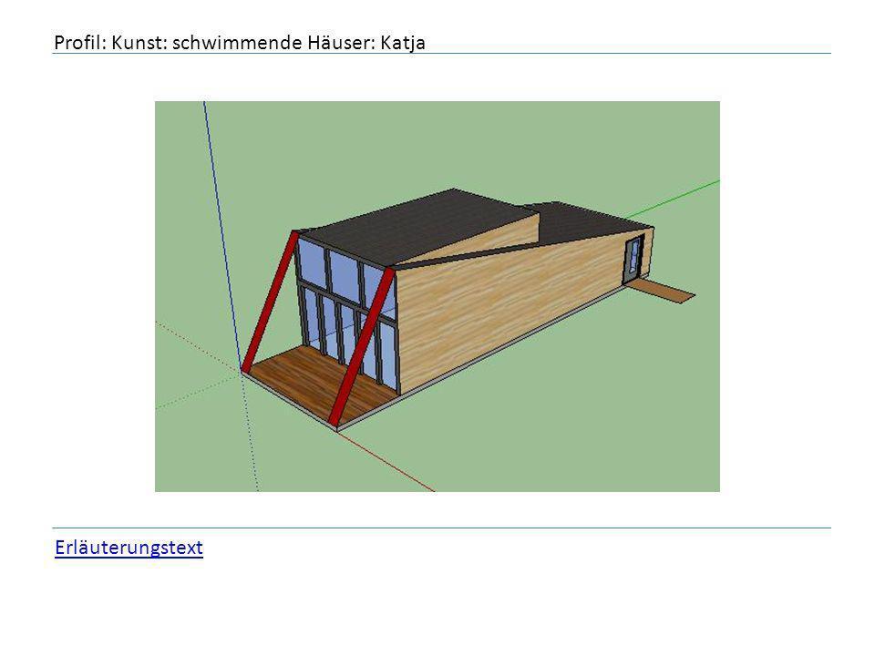 Profil: Kunst: schwimmende Häuser: Katja Erläuterungstext
