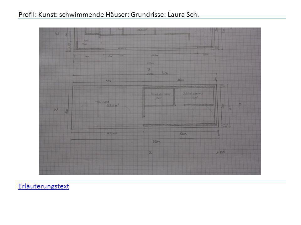 Profil: Kunst: schwimmende Häuser: Grundrisse: Laura Sch. Erläuterungstext