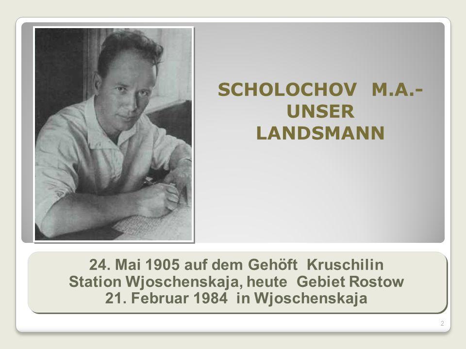 2 SCHOLOCHOV M.A.- UNSER LANDSMANN 24.