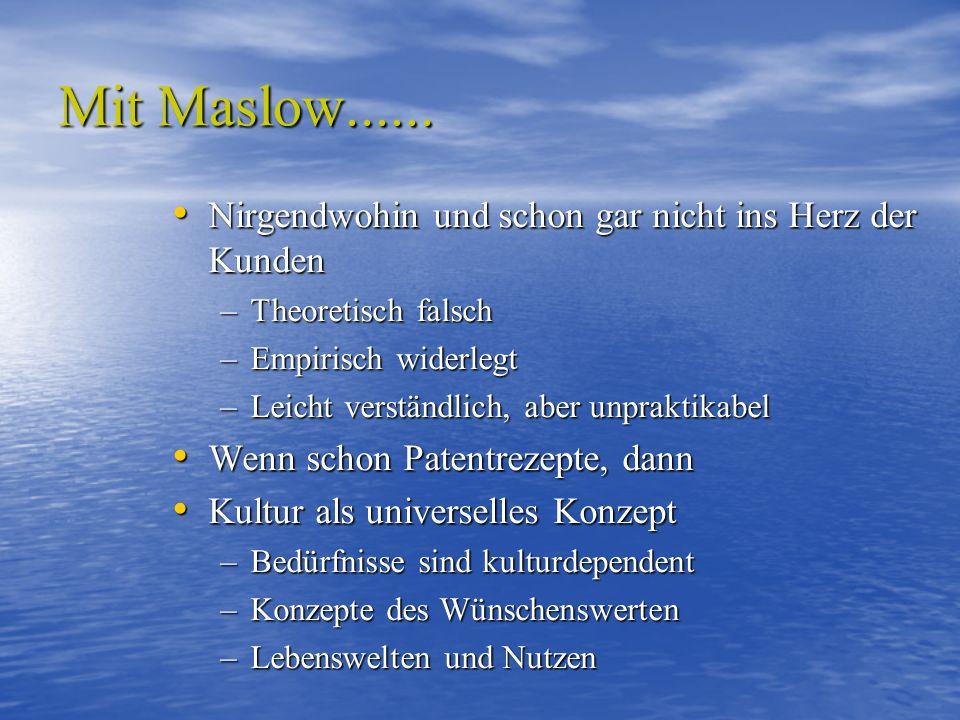 Mit Maslow......