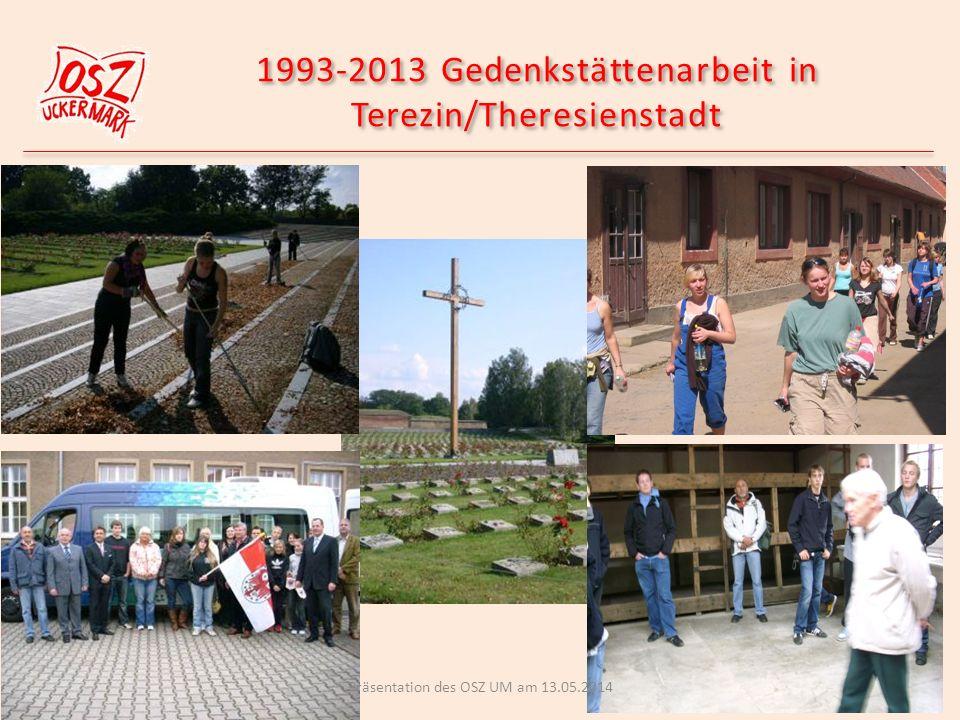 1993-2013 Gedenkstättenarbeit in Terezin/Theresienstadt Präsentation des OSZ UM am 13.05.2014