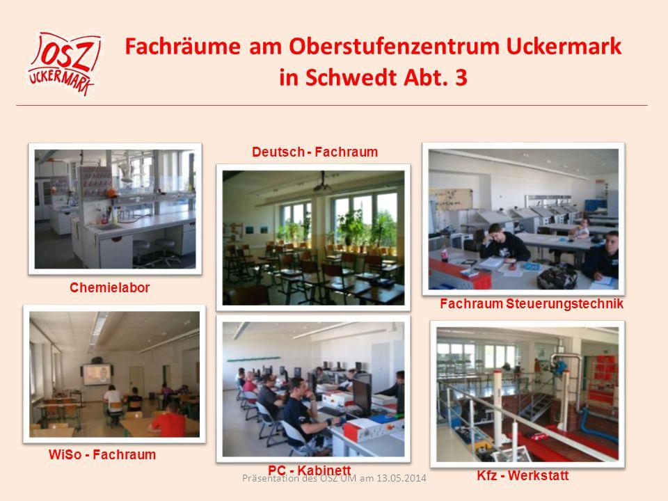 Fachräume am Oberstufenzentrum Uckermark in Schwedt Abt.