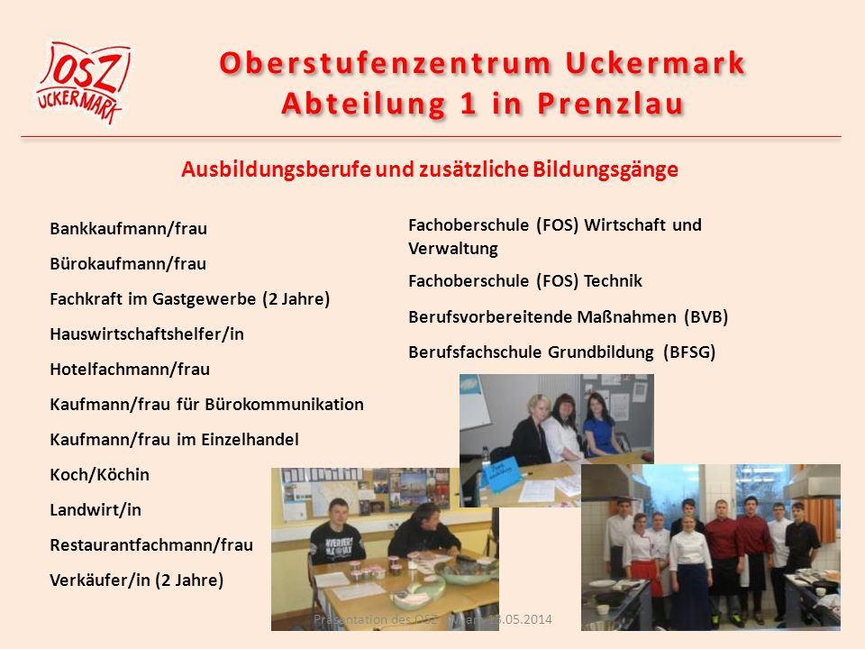 Projekte des OSZ Abt.