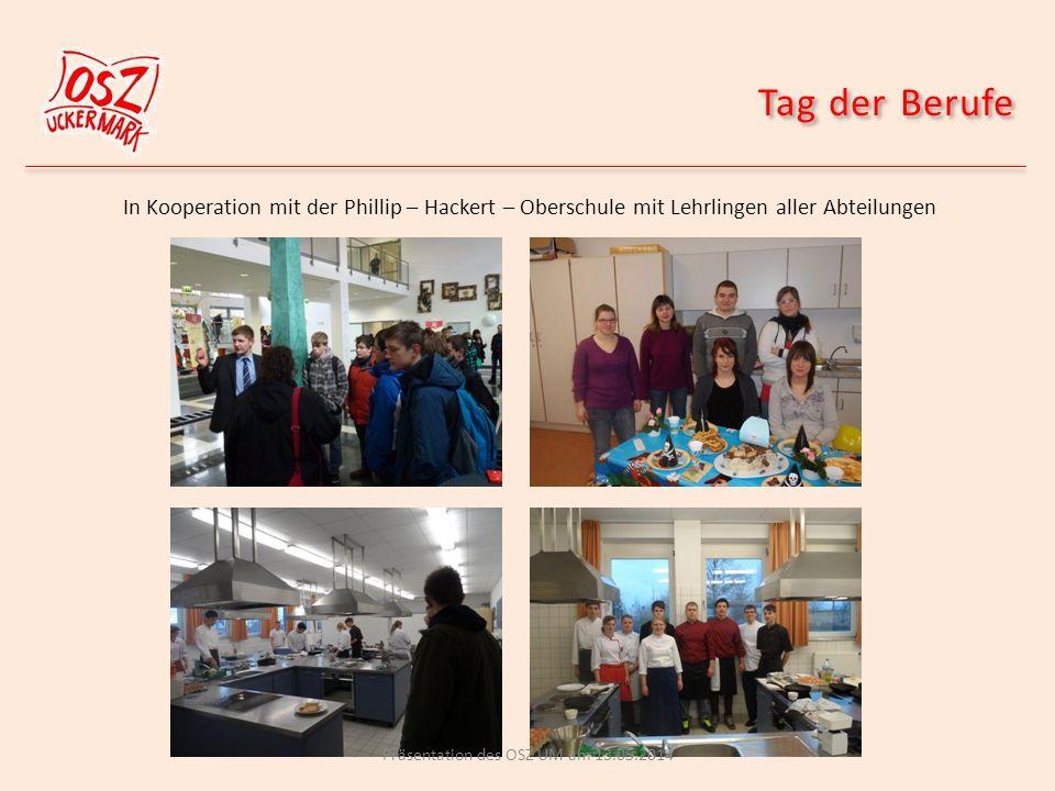 Kochstar mit Schülern der Oberschule Philipp Hackert in Prenzlau Präsentation des OSZ UM am 13.05.2014