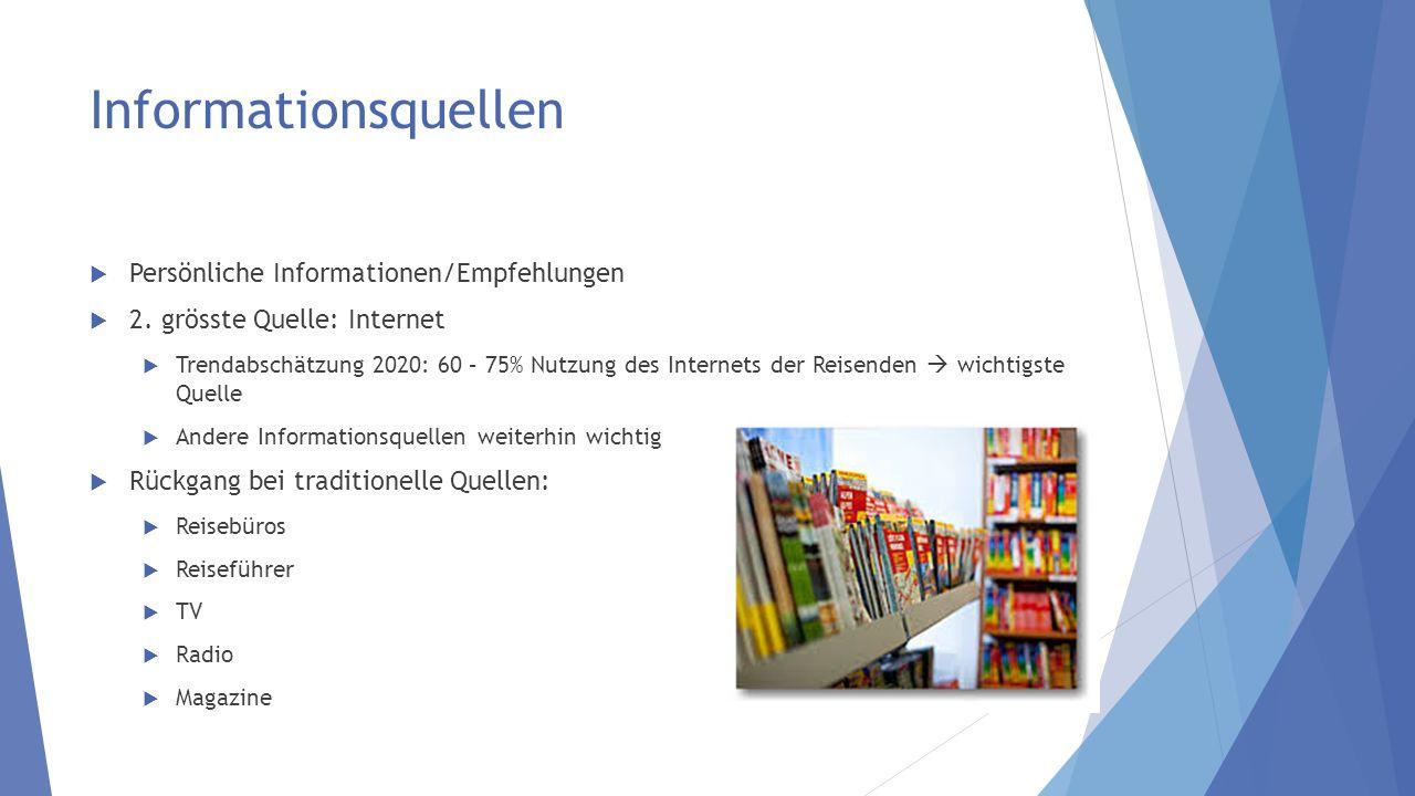 Informationsquellen Persönliche Informationen/Empfehlungen 2.