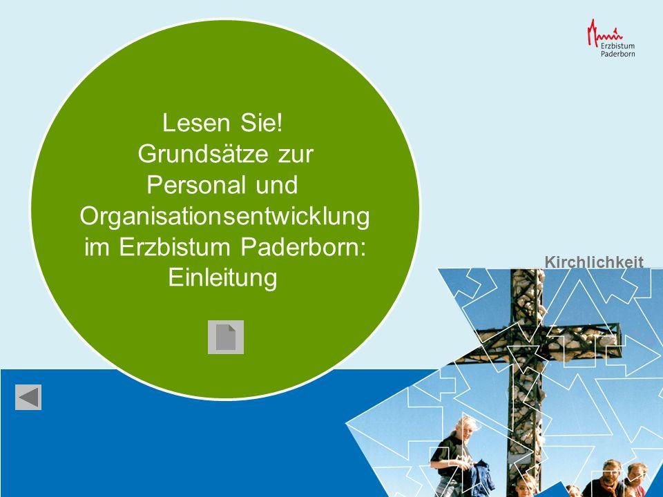 Lesen Sie! Grundsätze zur Personal und Organisationsentwicklung im Erzbistum Paderborn: Einleitung