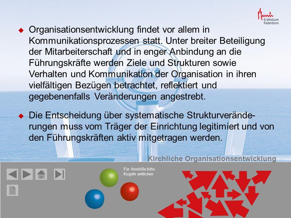 Organisationsentwicklung findet vor allem in Kommunikationsprozessen statt.