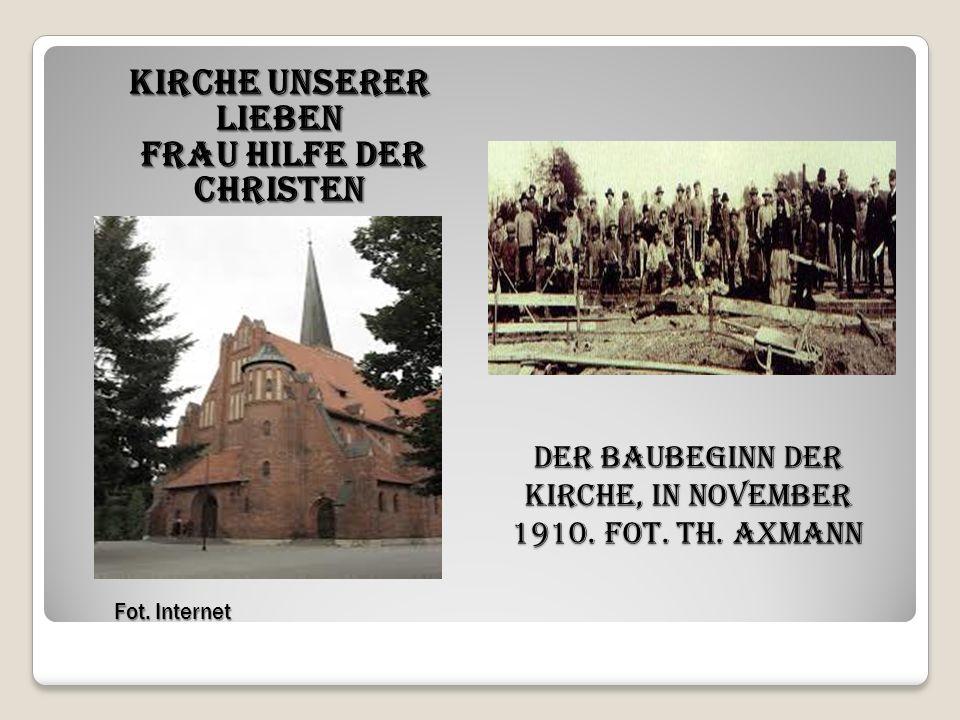 Der Baubeginn der Kirche, in November 1910. Fot. Th.