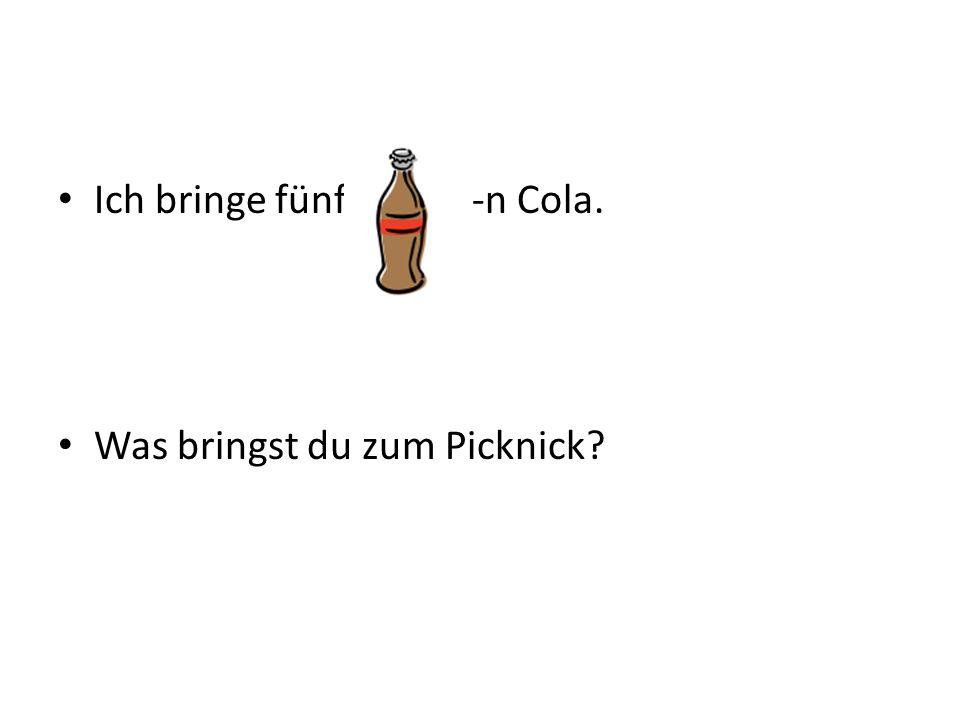 Ich bringe fünf -n Cola. Was bringst du zum Picknick?