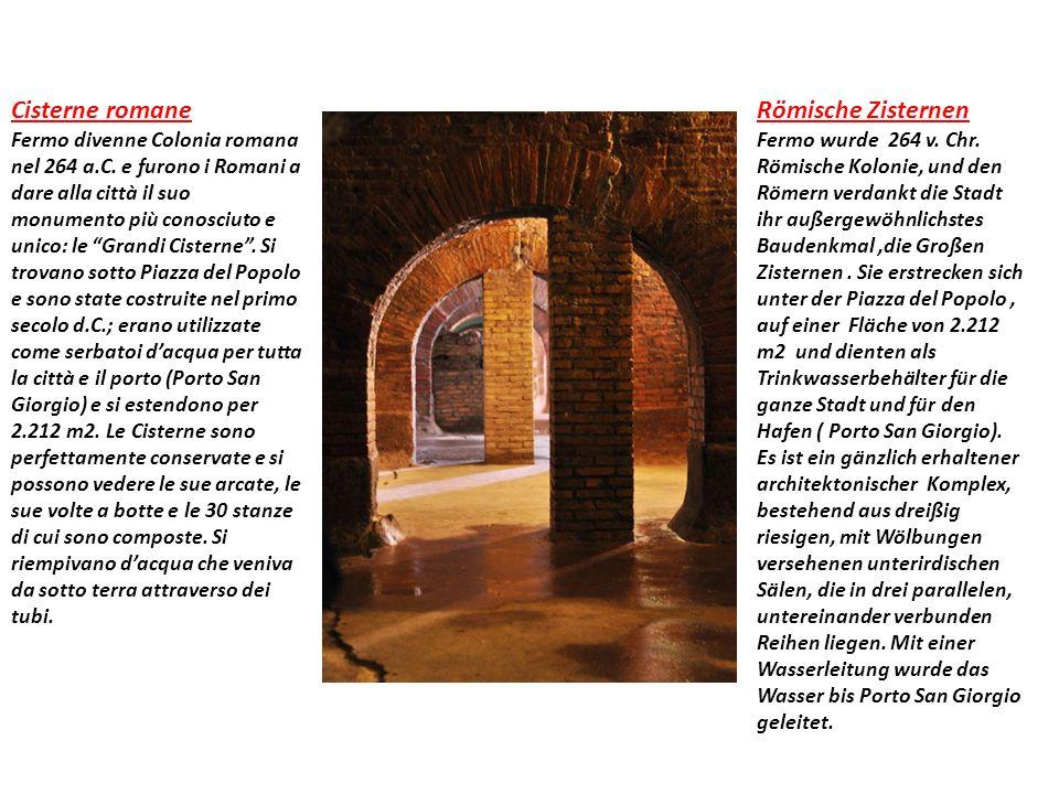 Cisterne romane Fermo divenne Colonia romana nel 264 a.C.