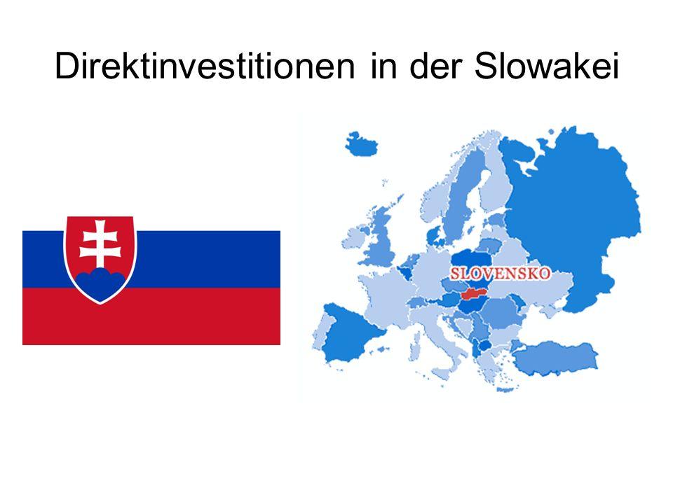 Direktinvestitionen in der Slowakei