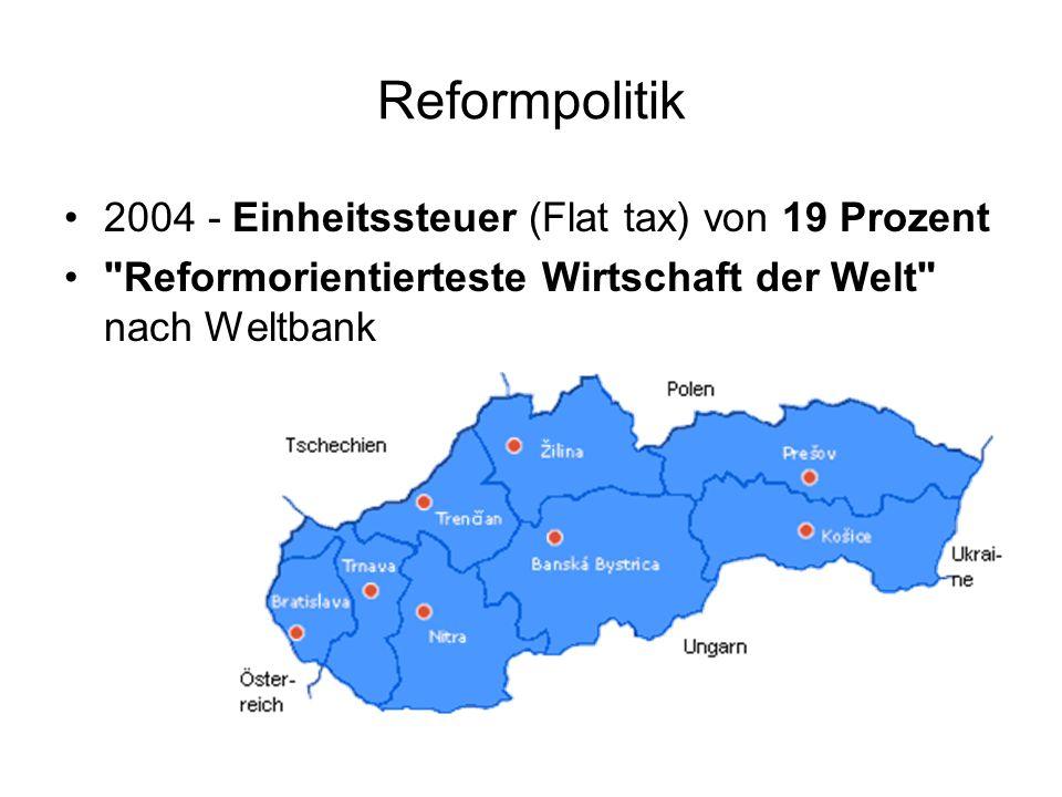 Reformpolitik 2004 - Einheitssteuer (Flat tax) von 19 Prozent