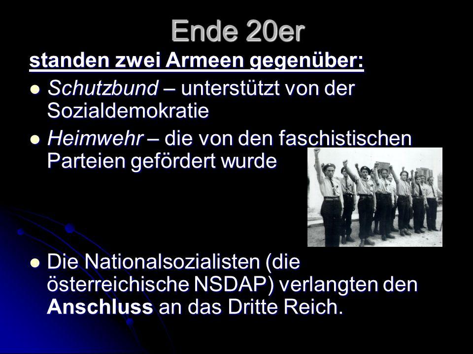 Sein Nachfolger Dr.Kurt Schuschnigg versuchte, die Unabhängigkeit Österreichs zu retten.