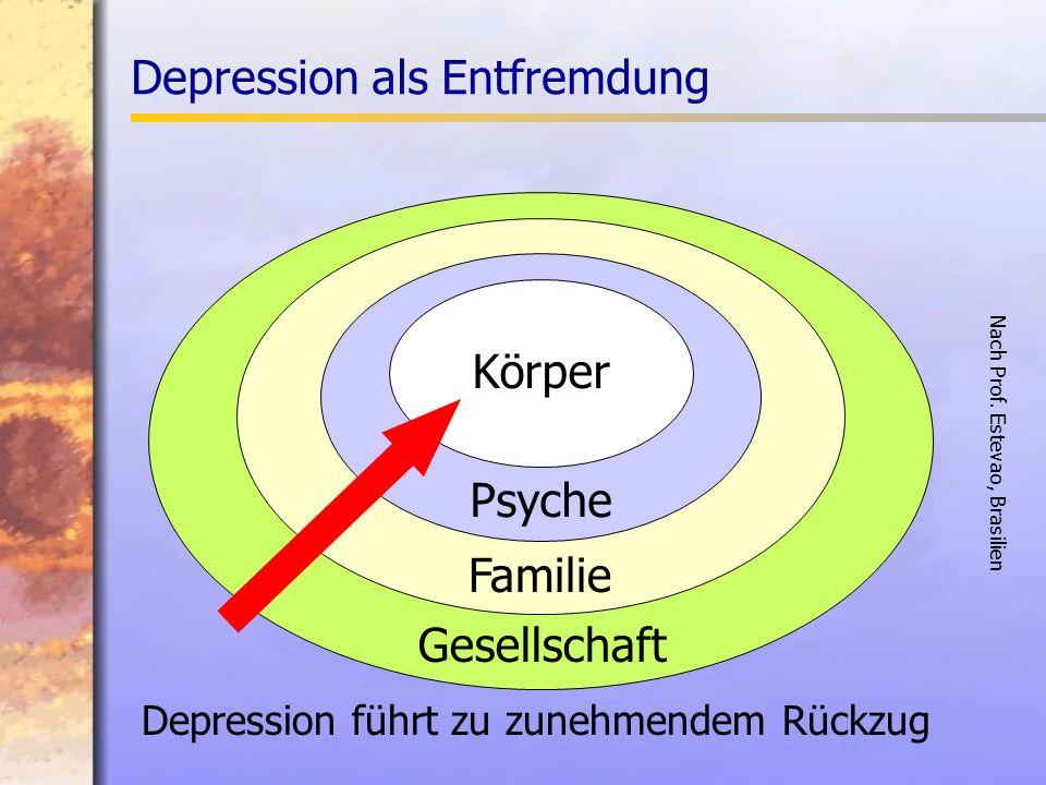 Depression führt zu zunehmendem Rückzug Gesellschaft Familie Psyche Körper Nach Prof.