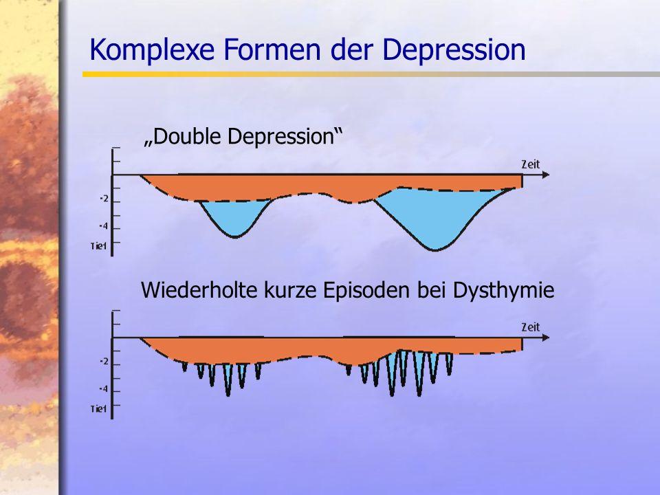 Double Depression Wiederholte kurze Episoden bei Dysthymie Komplexe Formen der Depression