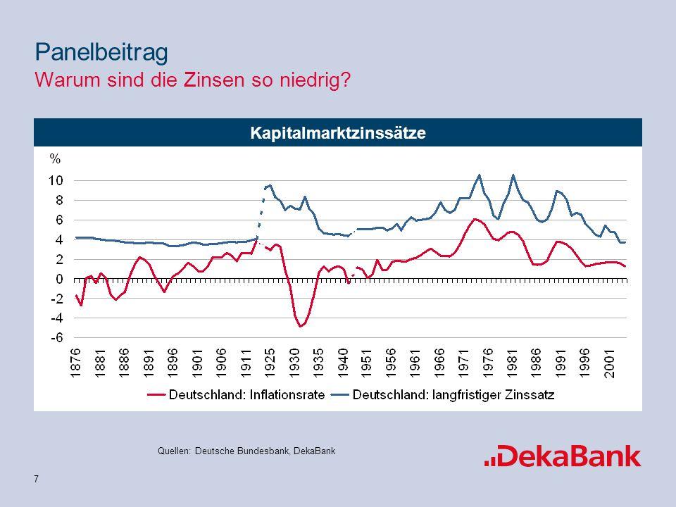 8 natürlicher Notenbankzinsatz Panelbeitrag Warum sind die Zinsen so niedrig.