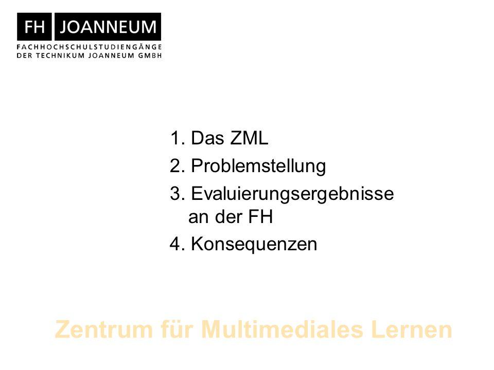 Zentrum für Multimediales Lernen 1. Das ZML 2. Problemstellung 3.