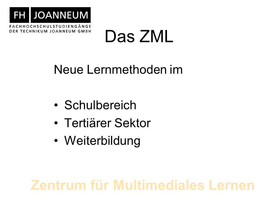 Das ZML Neue Lernmethoden im Schulbereich Tertiärer Sektor Weiterbildung