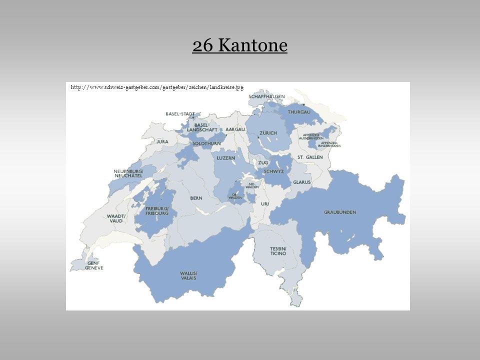 26 Kantone http://www.schweiz-gastgeber.com/gastgeber/zeichen/landkreise.jpg