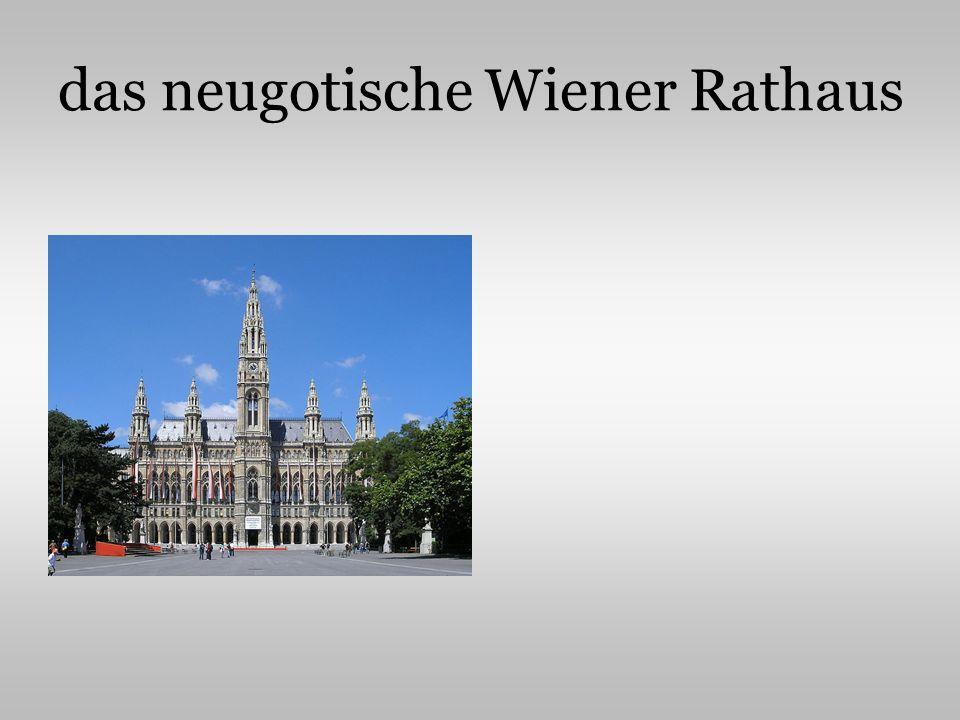 das neugotische Wiener Rathaus