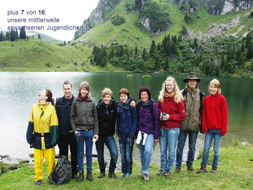 plus 7 von 16: unsere mittlerweile erwachsenen Jugendlichen