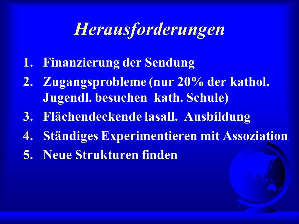 Herausforderungen 1.Finanzierung der Sendung 2.Zugangsprobleme (nur 20% der kathol.