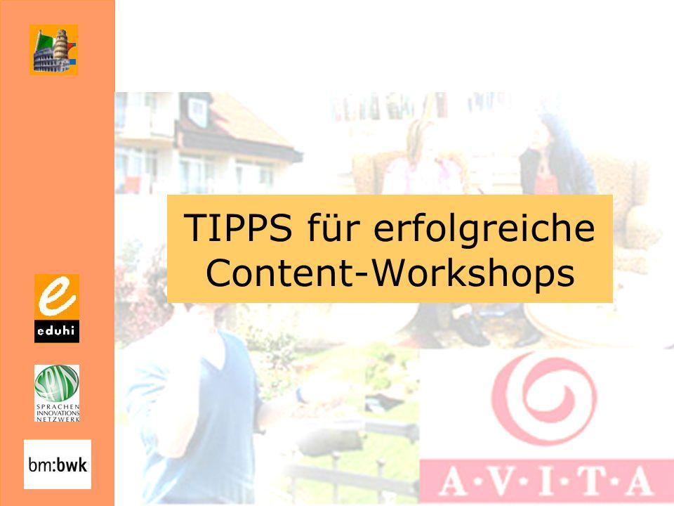 TIPPS für erfolgreiche Content-Workshops