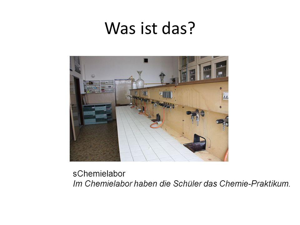 sChemielabor Im Chemielabor haben die Schüler das Chemie-Praktikum.