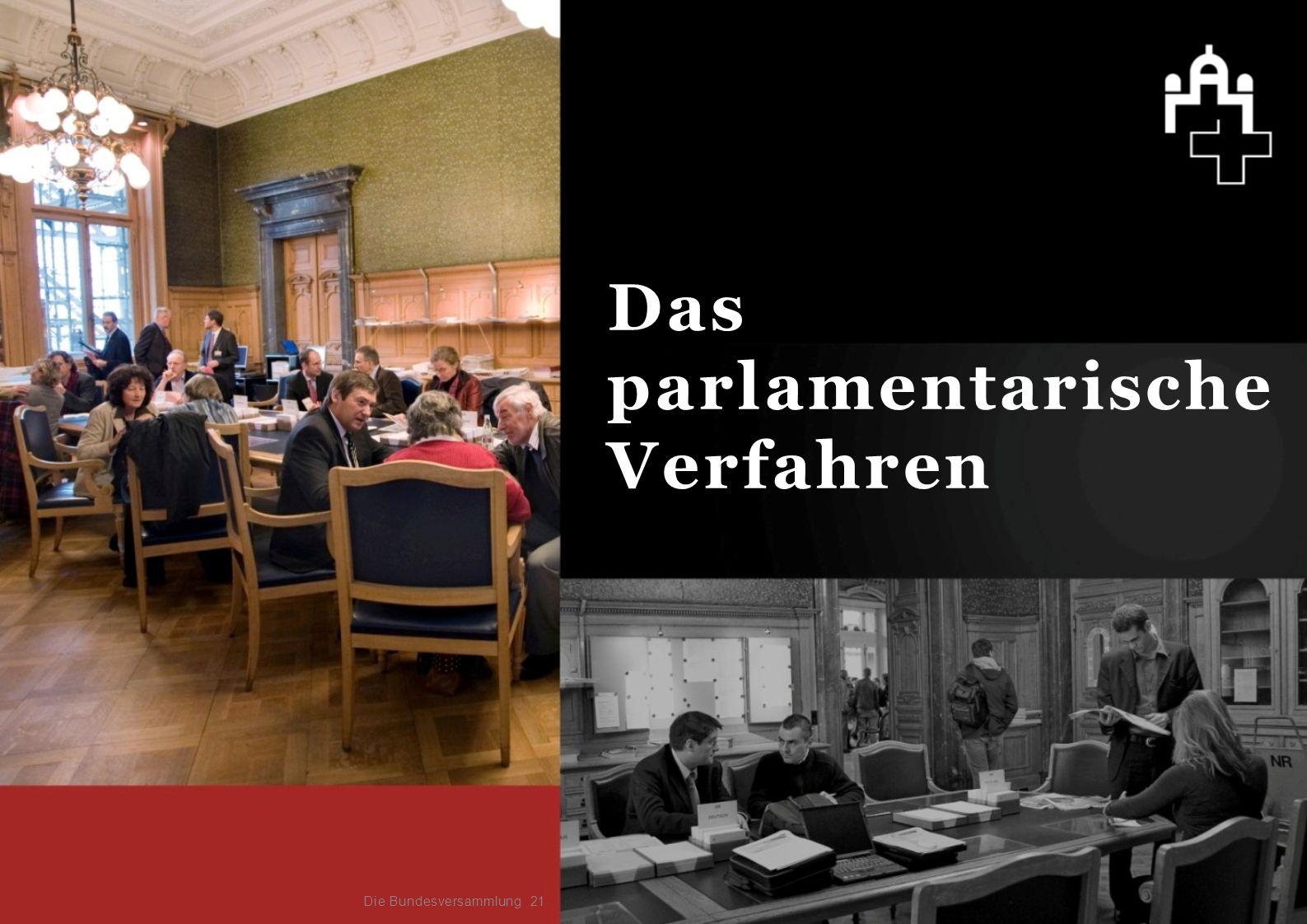 21 Das parlamentarische Verfahren Die Bundesversammlung