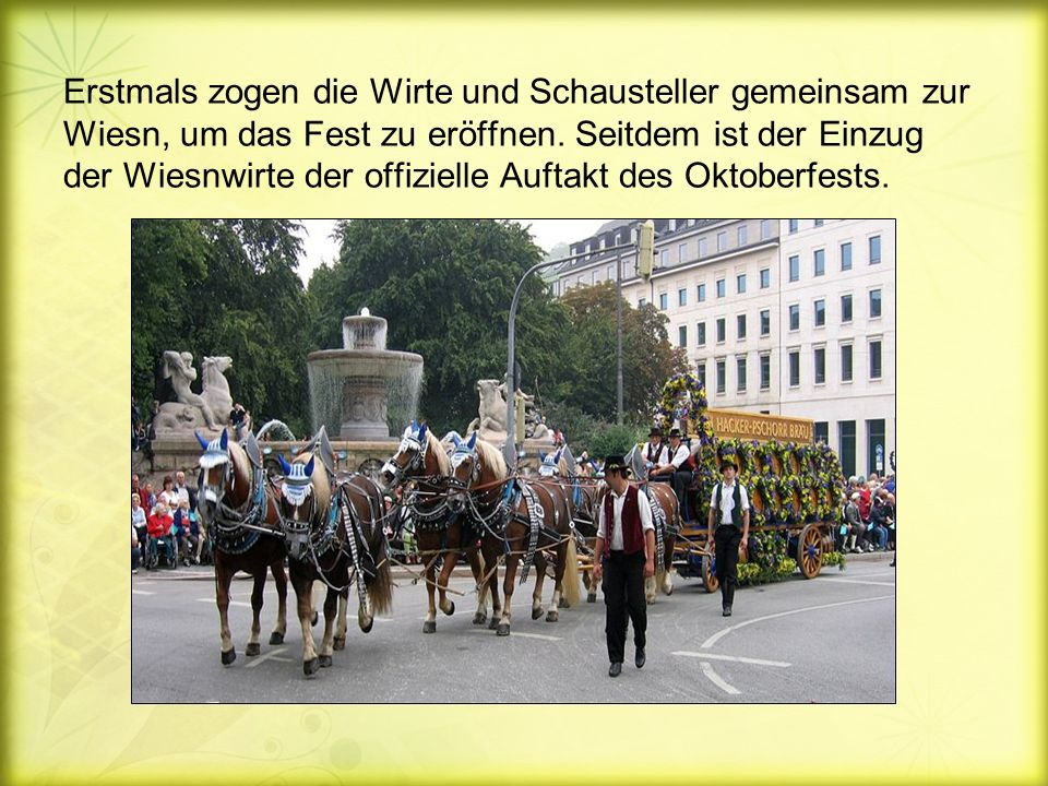 Erstmals zogen die Wirte und Schausteller gemeinsam zur Wiesn, um das Fest zu eröffnen.