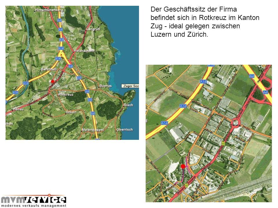 Mitten im Herzen von Rotkreuz ist die Firma mvm service gmbh im Schöngrund domiziliert, nur 2 Minuten von der Autobahnausfahrt Rotkreuz entfernt.