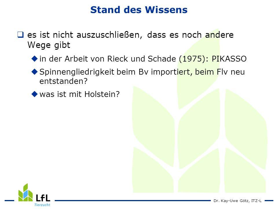 Dr. Kay-Uwe Götz, ITZ-L Stand des Wissens es ist nicht auszuschließen, dass es noch andere Wege gibt in der Arbeit von Rieck und Schade (1975): PIKASS
