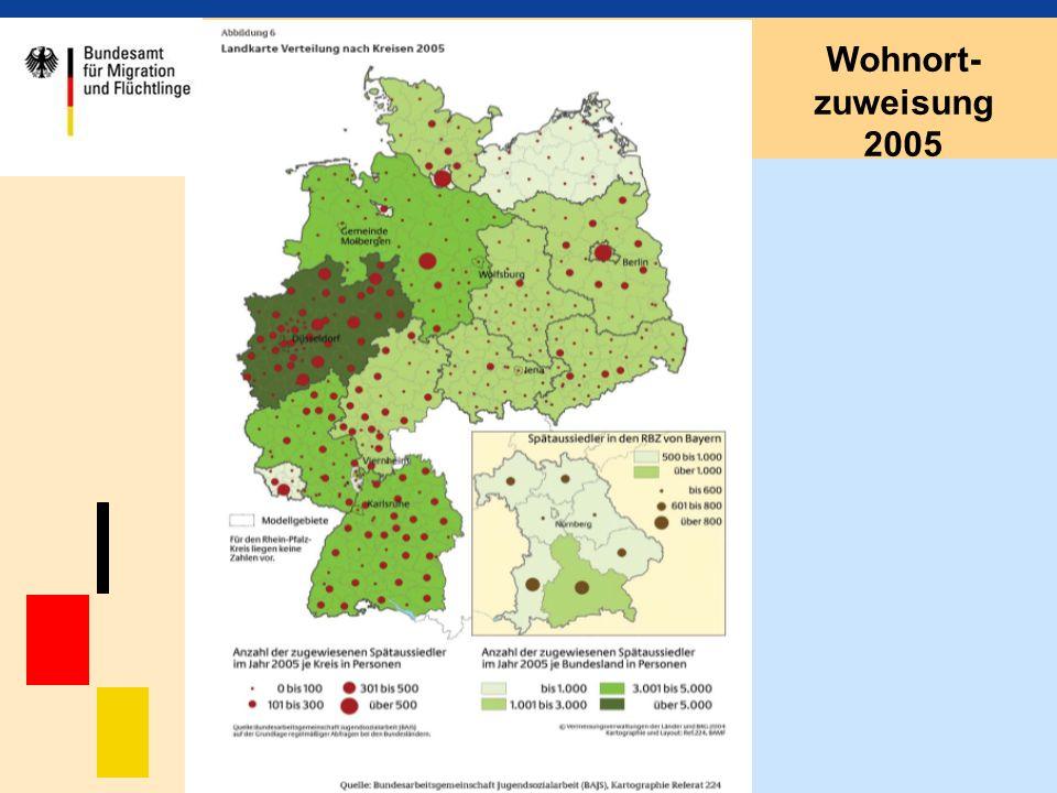 Wohnort- zuweisung 2005