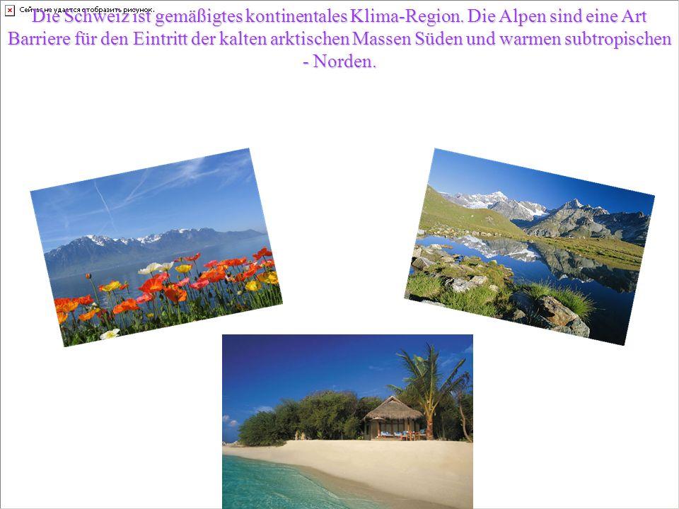 Die Schweiz ist gemäßigtes kontinentales Klima-Region.