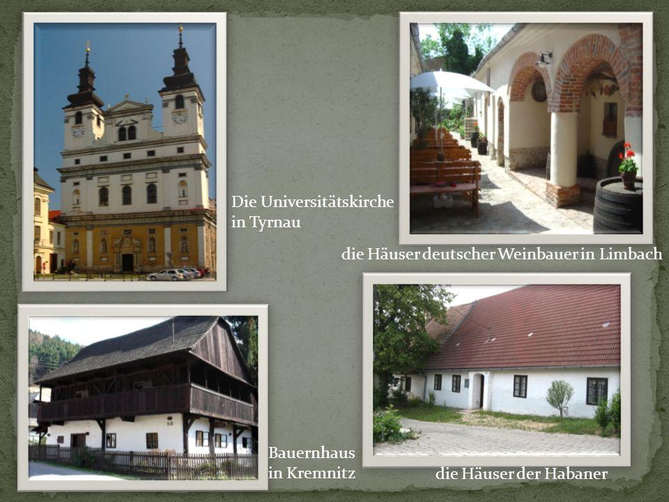 Kirche des Hl. Georg und der Glockenturm in Georgenberg Die Burg in Kesmark Rathaus in Leutschau