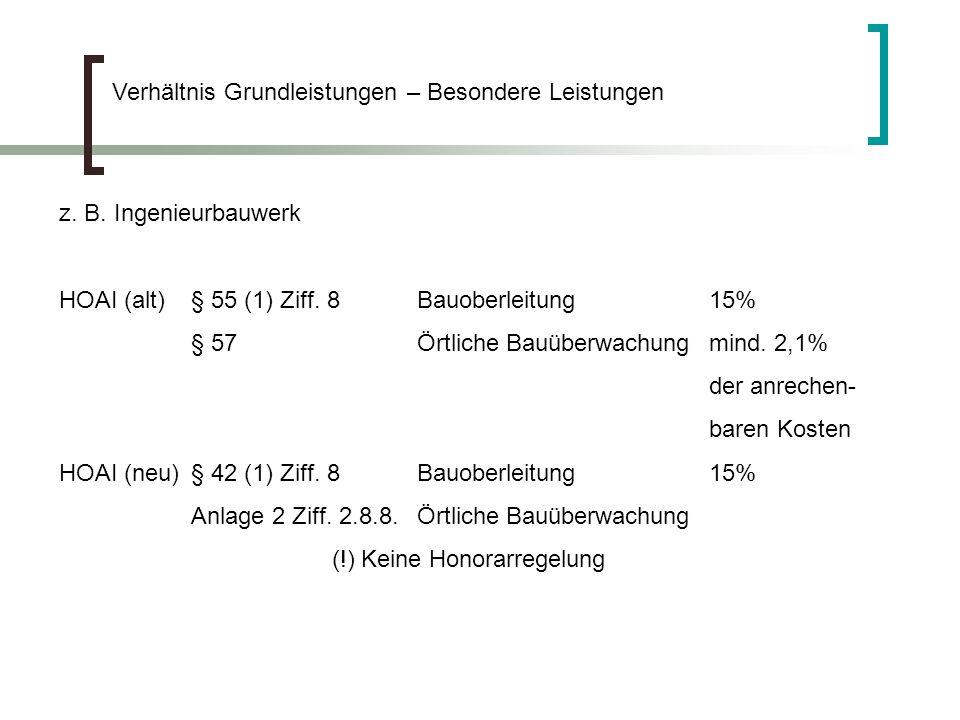 Auffassungen von Frank Steger, Fachanwalt für Bau- und Architektenrecht, Lehrbeauftragter für Baurecht an der FHTW Berlin, Mitarbeiter der Forschungsgruppe HOAI des Bundesministeriums für Wirtschaft: § 3 bedeutet, dass, was in dem Leistungskatalog nicht erfasst ist, einer frei zu verhandelnden zusätzlichen Vergütung zugänglich ist.