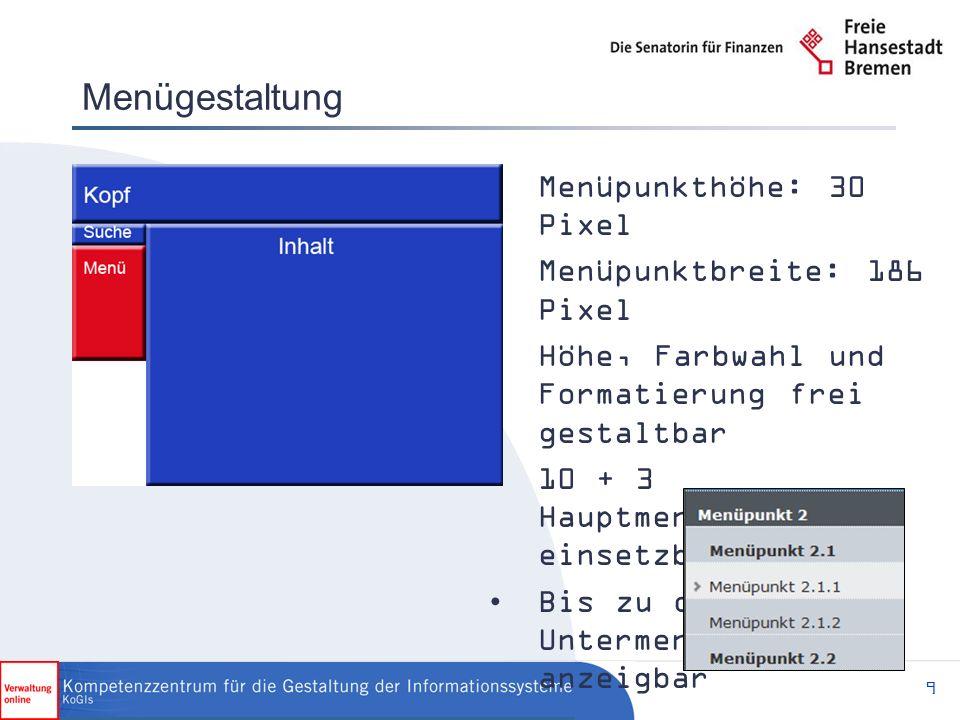 30 Infoboxenanpassung Die Infoboxspalte kann wahlweise ein- oder ausgeblendet sowie grafisch angepasst werden
