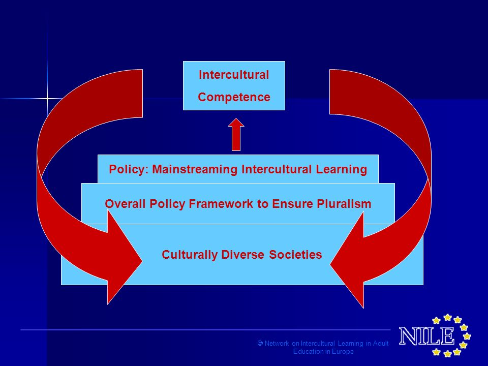 Network on Intercultural Learning in Adult Education in Europe Culturally Diverse Societies Overall Policy Framework to Ensure Pluralism Policy: Mainstreaming Intercultural Learning Intercultural Competence