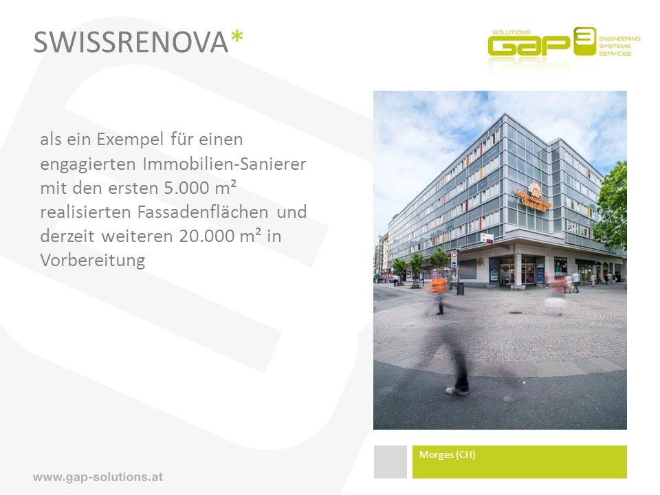 SWISSRENOVA* als ein Exempel für einen engagierten Immobilien-Sanierer mit den ersten 5.000 m² realisierten Fassadenflächen und derzeit weiteren 20.000 m² in Vorbereitung Morges (CH)