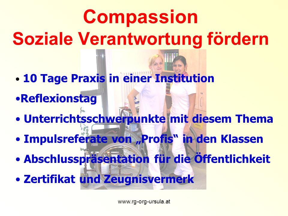 www.rg-org-ursula.at Persönlicher Kontakt Beziehungen herstellen Im Gespräch bleiben Wertschätzung Verantwortung
