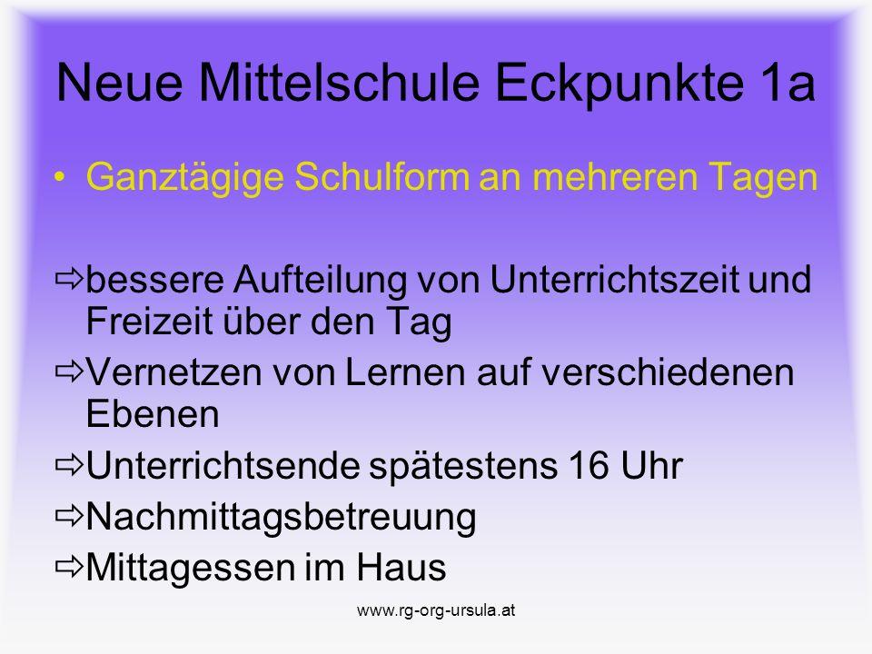 www.rg-org-ursula.at Kooperative Mittelschule St.Ursula Klagenfurt Bischöfliches Realgymnasium St.