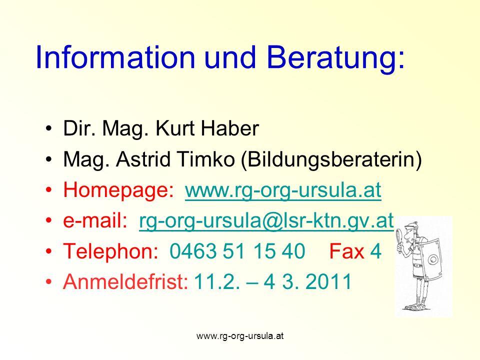 www.rg-org-ursula.at Einsteigen – Umsteigen .