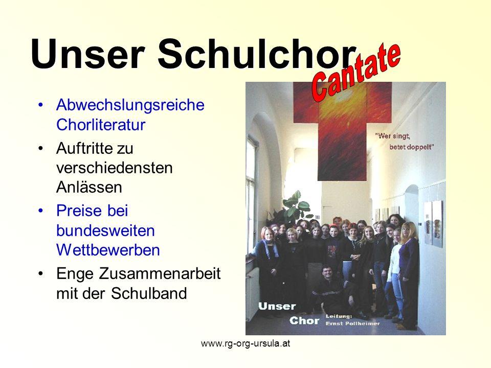 www.rg-org-ursula.at Sprachenangebot am ORG St.Ursula Englisch – 1.
