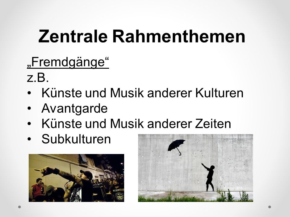 Zentrale Rahmenthemen Fremdgänge z.B.