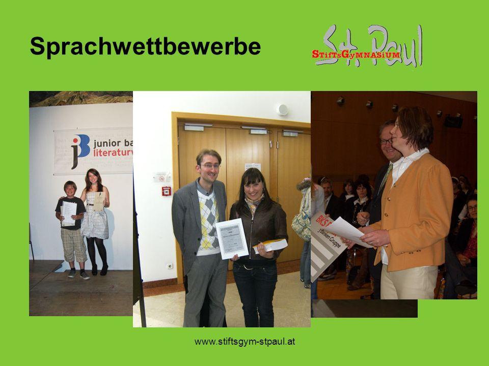 www.stiftsgym-stpaul.at Sprachwettbewerbe