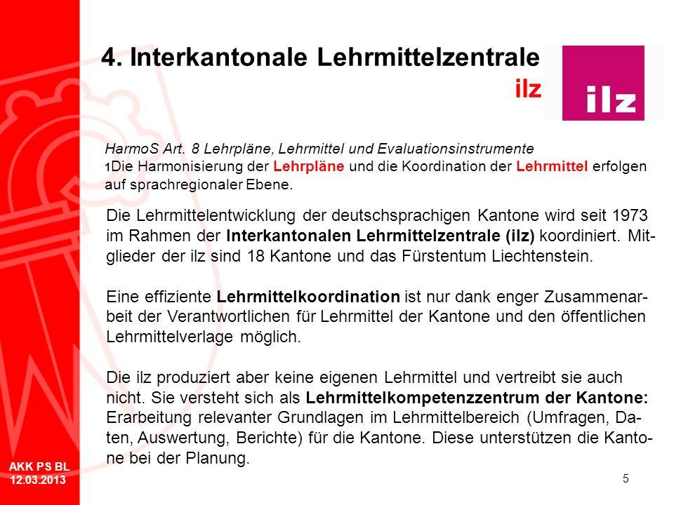 5 4. Interkantonale Lehrmittelzentrale ilz Die Lehrmittelentwicklung der deutschsprachigen Kantone wird seit 1973 im Rahmen der Interkantonalen Lehrmi