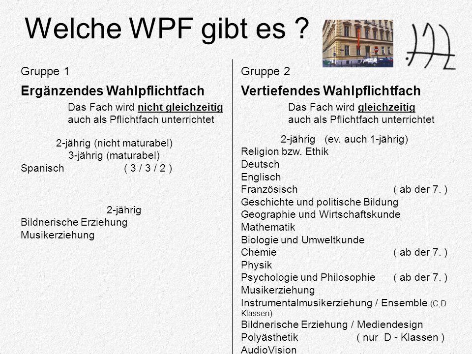 Welche WPF gibt es .
